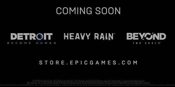 《暴雨》、《超凡双生》和《底特律:变人》将登PC平台
