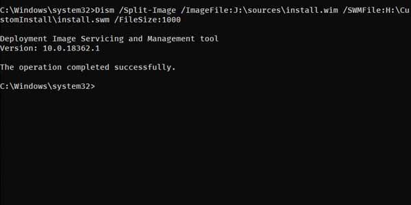 如何拆分大于4GB的Install.wim文件