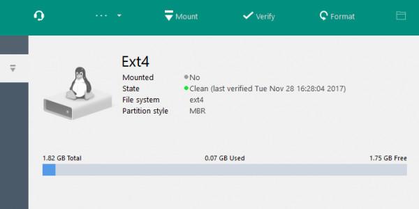 如何在非linux系统对ext4文件格式进行读写